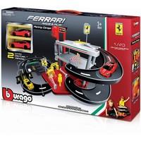 Garage Bburago Ferrari garage + 2 auto`s schaal 1:43