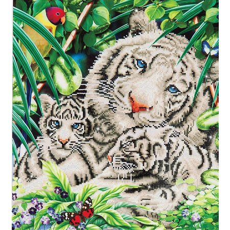 Diamond Dotz White Tiger en Cubs Diamond Dotz: 52x52 cm