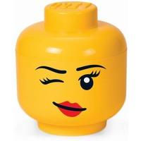 Opbergbox LEGO head girl winking large