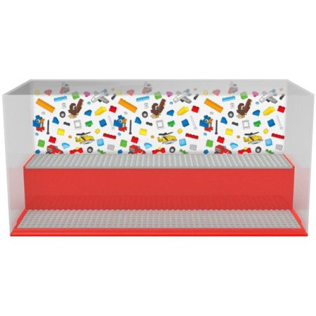 LEGO License Opbergbox LEGO play & display rood