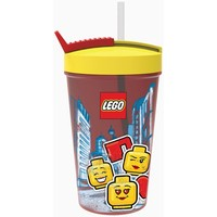 Drinkbeker met rietje Lego Iconic girl