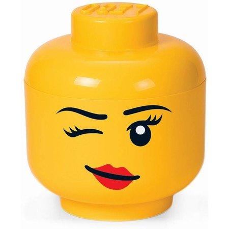 LEGO License Opbergbox LEGO head girl winking small