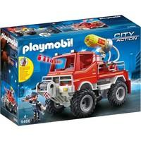 Brandweer terreinwagen met waterkanon Playmobil