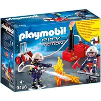 Brandweerteam met waterpomp Playmobil