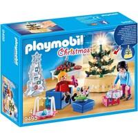 Woonkamer in kerststijl Playmobil