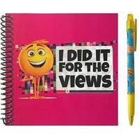 Notitieboek Emoji met pen 19x21 cm