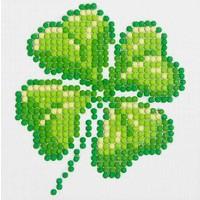 Diamond Dotz Four Leaf Clover Diamond Dotz: 10x10 cm