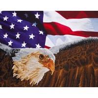 Eagle with American Flag Diamond Dotz: 71x56 cm