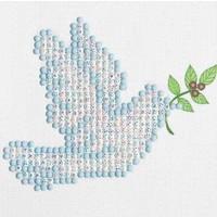 Dove of Peace Diamond Dotz: 10x10 cm