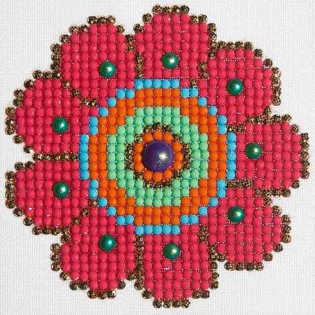 Diamond Dotz Flower Power Diamond Dotz: 10x10 cm