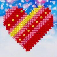 PatchWork Heart Diamond Dotz: 7x7 cm