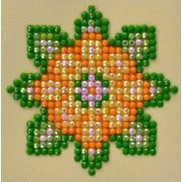 Flower Mandala 1 Diamond Dotz: 7x7 cm