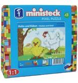Ministeck Kip en kuiken Ministeck 300-delig
