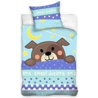 Non-License Dekbedovertrek ledikant Sweet Dreams hond 100x135/40x60 cm