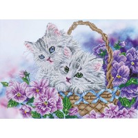 Kitty Basket Diamond Dotz: 52x38 cm