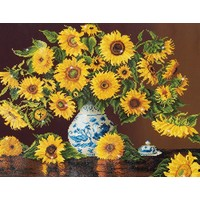 Sunflowers in a china vase Diamond Dotz: 71x56 cm