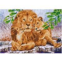 Lion Family Diamond Dotz: 76x55 cm