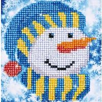 Snowman Cap Picture Diamond Dotz: 13x13 cm