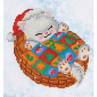 Snug Christmas Kitty Diamond Dotz: 23x25 cm