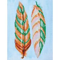 Feather Whispers Diamond Dotz: 28x37 cm