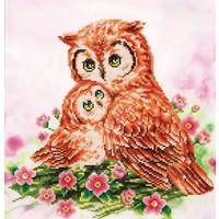 Mother and Baby Owl Diamond Dotz: 42x42 cm
