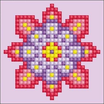 Diamond Dotz Flower Mandala 2 Diamond Dotz: 7x7 cm