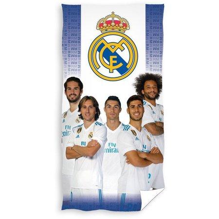 Real Madrid Badlaken real madrid blauw/wit spelers 70x140 cm