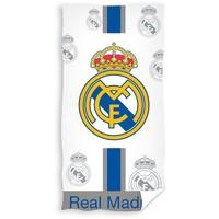 Badlaken real madrid wit/blauw logo`s 70x140 cm
