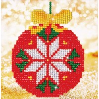 Red Bauble Picture Diamond Dotz: 13x13 cm
