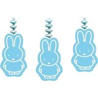 Slinger Nijntje met hangers: blauw - 3 stuks