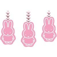 Slinger Nijntje met hangers roze - 3 stuks