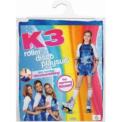 K3 K3 verkleedpak - Roller disco playsuit met regenboog kousen