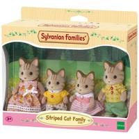 Familie Gestreepte Kat Sylvanian Families
