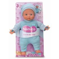 Pop Nenuco soft met 3 functies blauw 25 cm