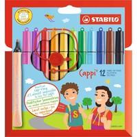 Viltstiften Stabilo Cappi 12 stuks