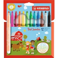 Viltstiften Stabilo Trio jumbo 12 stuks