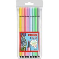 Viltstiften Stabilo pen 68 pastel 8 stuks