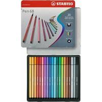 Viltstiften Stabilo pen 68 metalen doos 20 stuks
