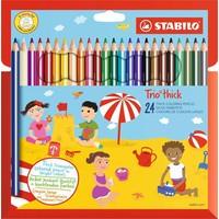 Kleurpotloden Stabilo Trio dik 24 stuks