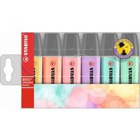 Markeerstiften Stabilo Boss pastel 6 stuks