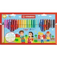 Viltstiften Stabilo Cappi 24 stuks