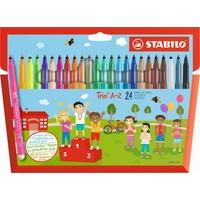 Viltstiften Stabilo Trio A-Z 24 stuks