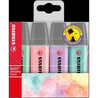Markeerstiften Stabilo Boss pastel 4 stuks