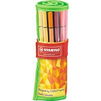 Viltstiften Stabilo pen 68 rollerset 25 stuks