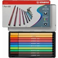 Viltstiften Stabilo pen 68 metalen doos 10 stuks