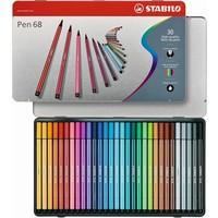 Viltstiften Stabilo pen 68 metalen doos 30 stuks