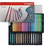 Stabilo Viltstiften Stabilo pen 68 metalen doos 40 stuks