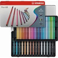 Viltstiften Stabilo pen 68 metalen doos 40 stuks
