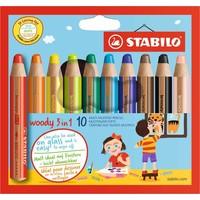 Potloden Stabilo Woody 3 in 1 10 stuks