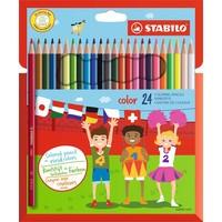 Kleurpotloden Stabilo Color 24 stuks